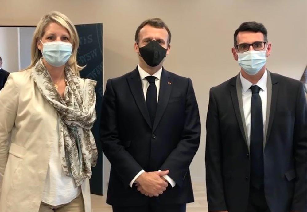 LE MAIRE DE BESSAN RENCONTRE LE PRÉSIDENT DE LA RÉPUBLIQUE